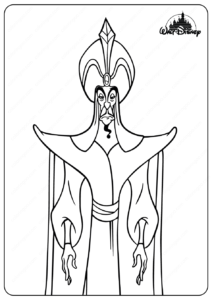 Disney The Evil Sorcerer Jafar Coloring Pages