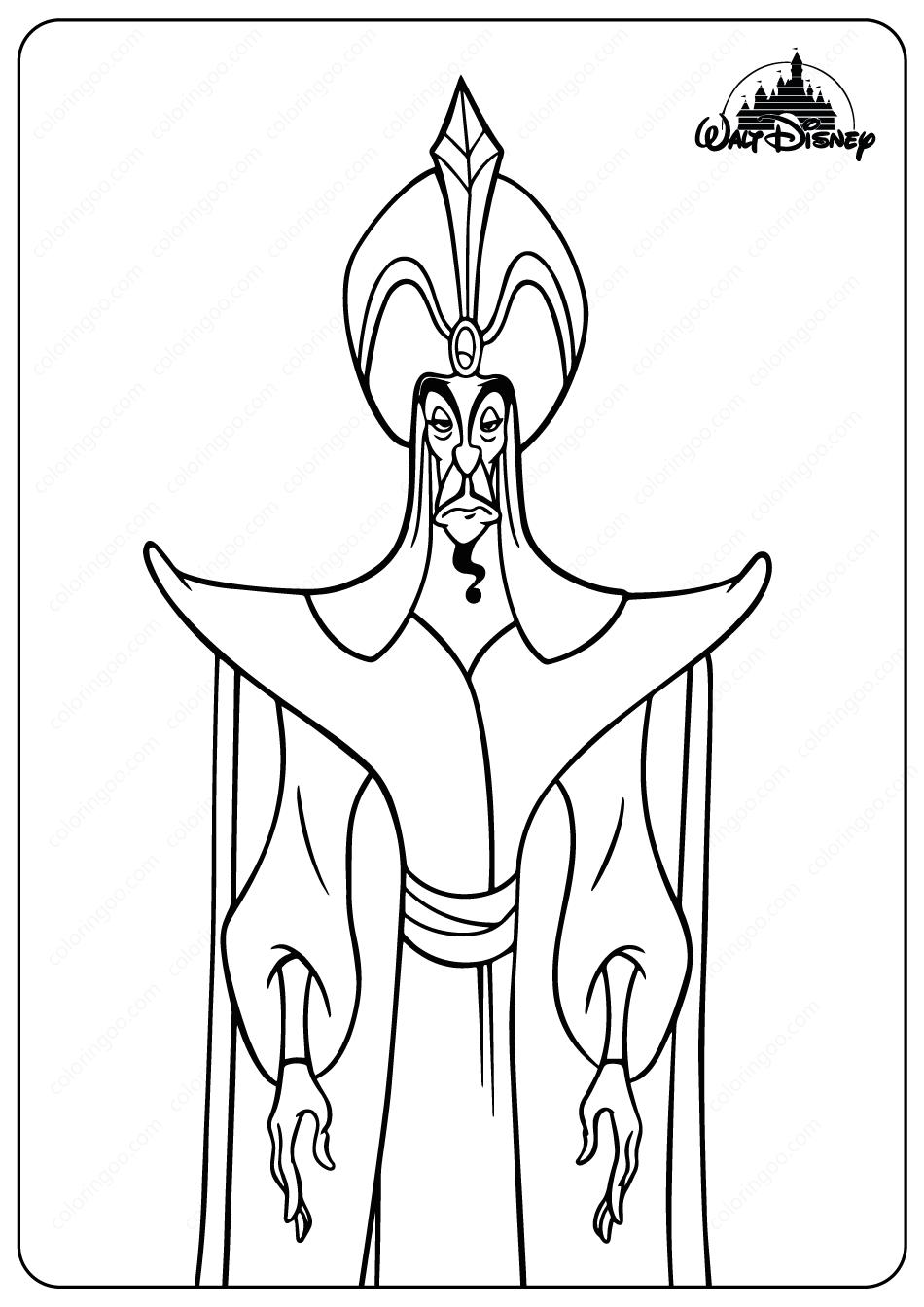 Disney The Evil Sorcerer Jafar Coloring Pages