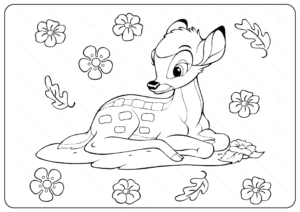 Printable Disney Bambi Coloring Pages