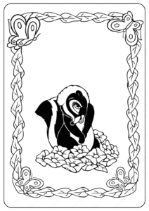 Printable Disney Flower PDF Coloring Pages