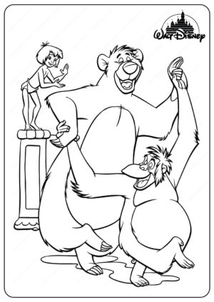 Printable Disney Jungle Book Baloo Coloring Pages