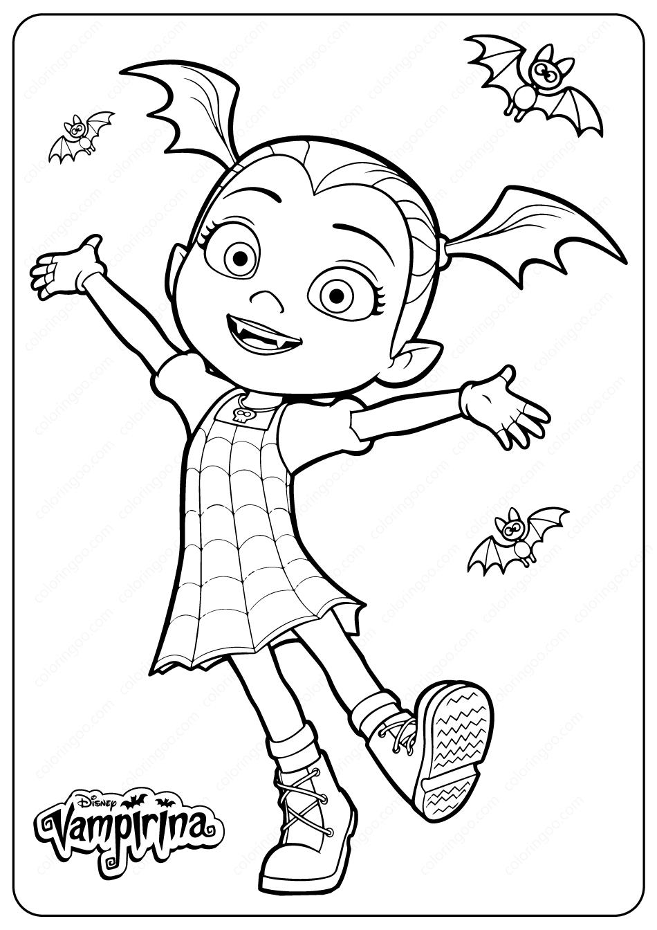 Printable Disney Junior Vampirina Coloring Pages