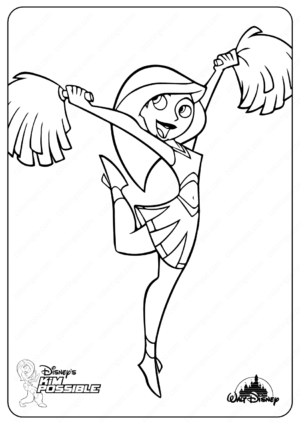 Printable Disney Kim Possible Dancing Coloring Pages