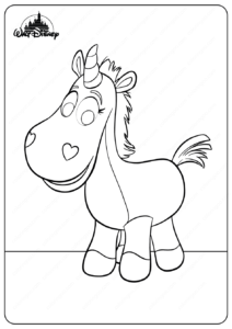 Printable Disney Lovely Buttercup Coloring Pages