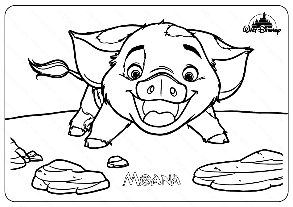 Printable Disney Moana Pua Coloring Pages