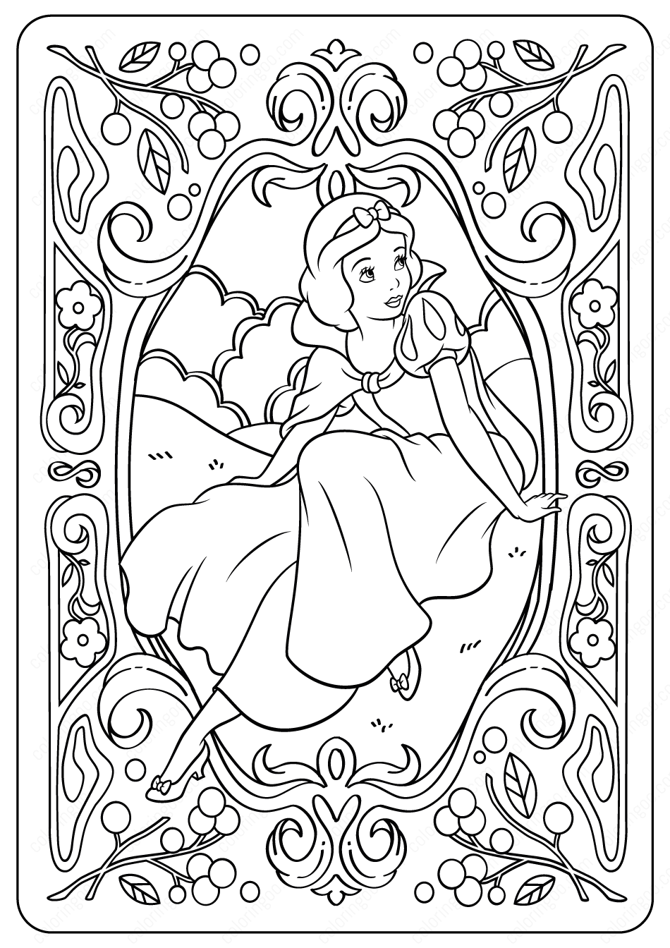 - Printable Disney Snow White PDF Coloring Pages