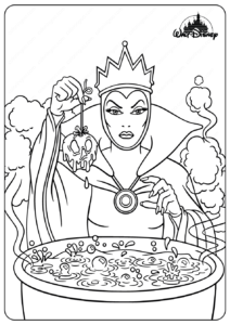 Printable Disney The Evil Queen Coloring Pages