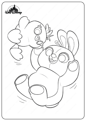 Printable Toy Story Ducky and Bunny Coloring Pages
