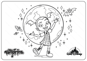 Printable Disney Vampirina PDF Coloring Pages