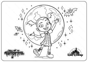 Printable Disney Vampirina PDF Coloring Pages