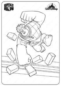 Printable Disney Wreck It Ralph Coloring Pages