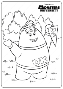 Printable Monsters University Pnk Coloring Pages