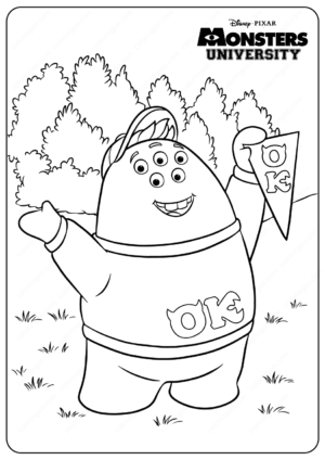 Printable Monsters University Squishy Coloring Pages 1