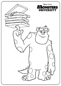 Printable Monsters University Mike Coloring Pages