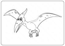 Printable Pterosaur PDF Coloring Pages