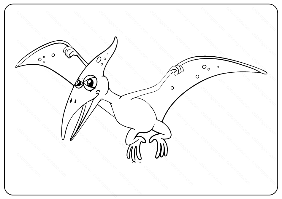 Printable Pterosaur PDF Coloring Pages