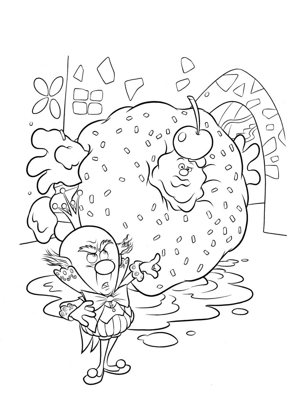 Disney Ralph and King Candy Coloring Page
