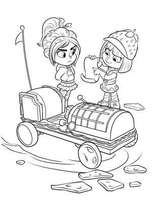 Disney Taffyta and Vanellope Coloring Page