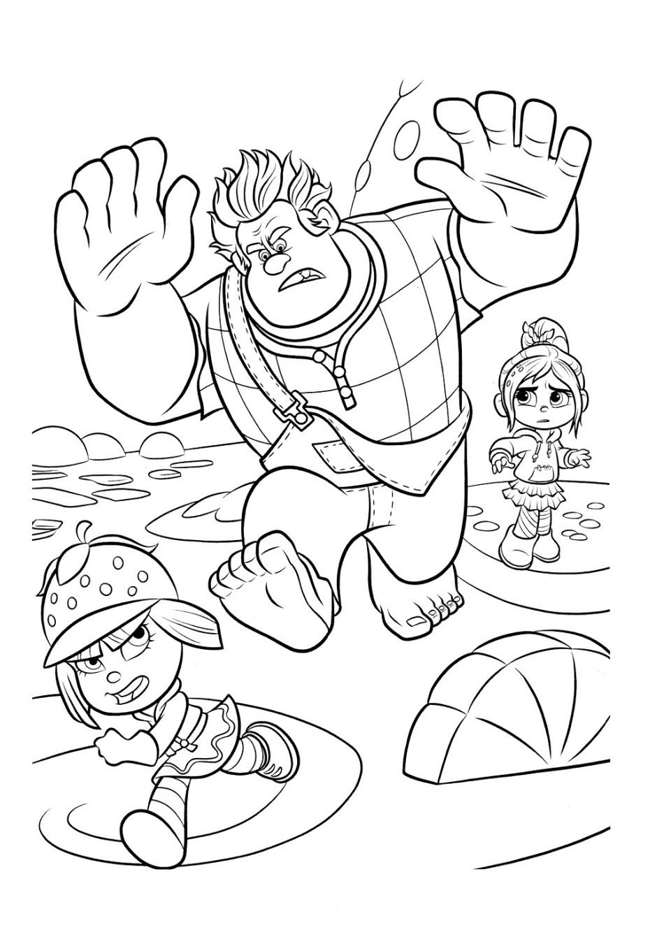 Disney Ralph Vanelope and Taffyta Coloring Book
