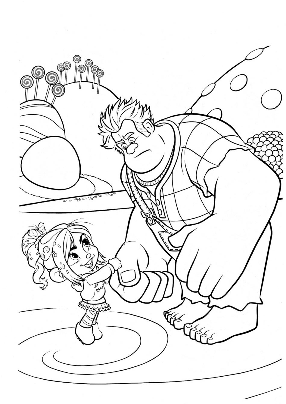 Vanellope Asks Ralph To Help a New Kart