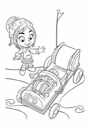 Vanellopes Rickety Old Kart Coloring Page