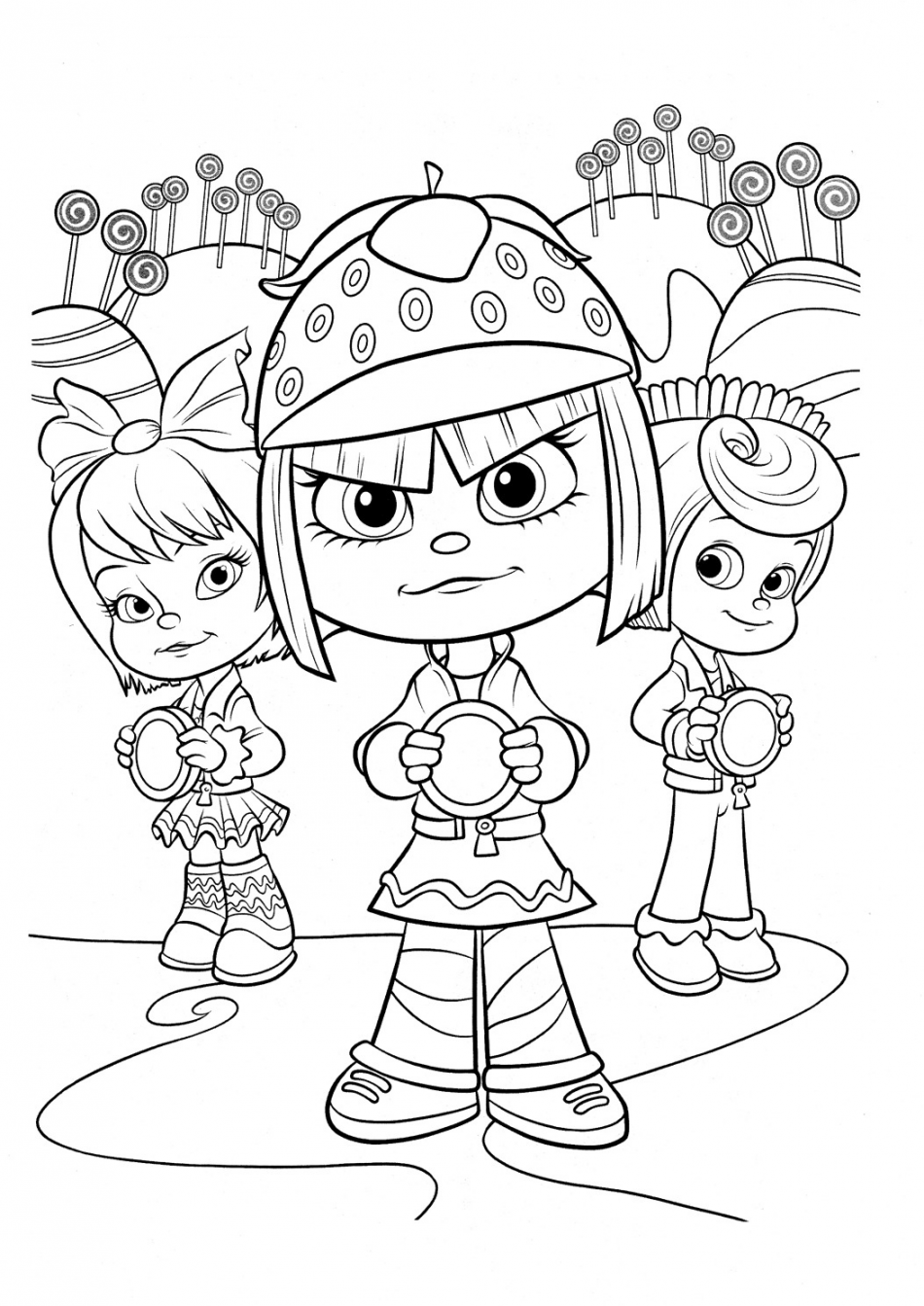 Disney Taffyta Muttonfudge and Friends Coloring
