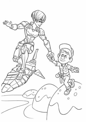 Wreck It Ralph Calhoun and Felix Coloring Pages