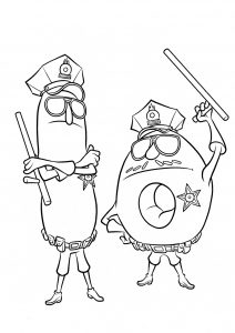 Disney Donut Police Officers Coloring Pages