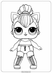 Lol Surprise Doll Sheets Kitty Queen Coloring Page