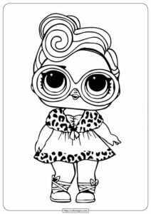 Free Printable Lol Surprise Dollface Coloring Pages