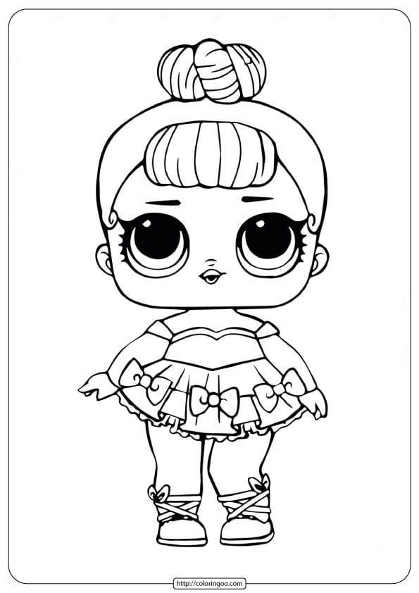 LOL Surprise Doll Miss Baby Glitter Coloring Pages