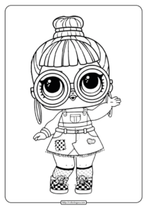 LOL Surprise Coloring Page Block Party BB