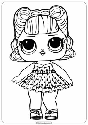 LOL Surprise Doll Jitterbug Coloring Page