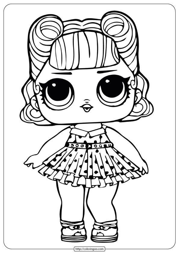 LOL Surprise Doll Jitterbug Coloring Page 1