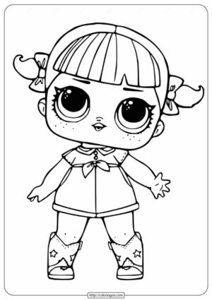 LOL Surprise Doll Coloring Pages Cherry