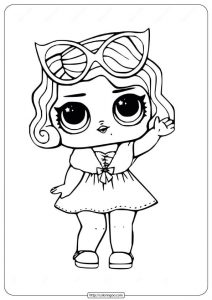 LOL Surprise Doll Leading Baby Coloring Pages