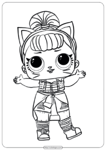 LOL Surprise Troublemaker Doll Coloring Pages
