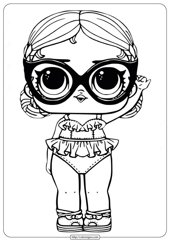LOL Surprise Doll Coloring Pages Vacay Babay