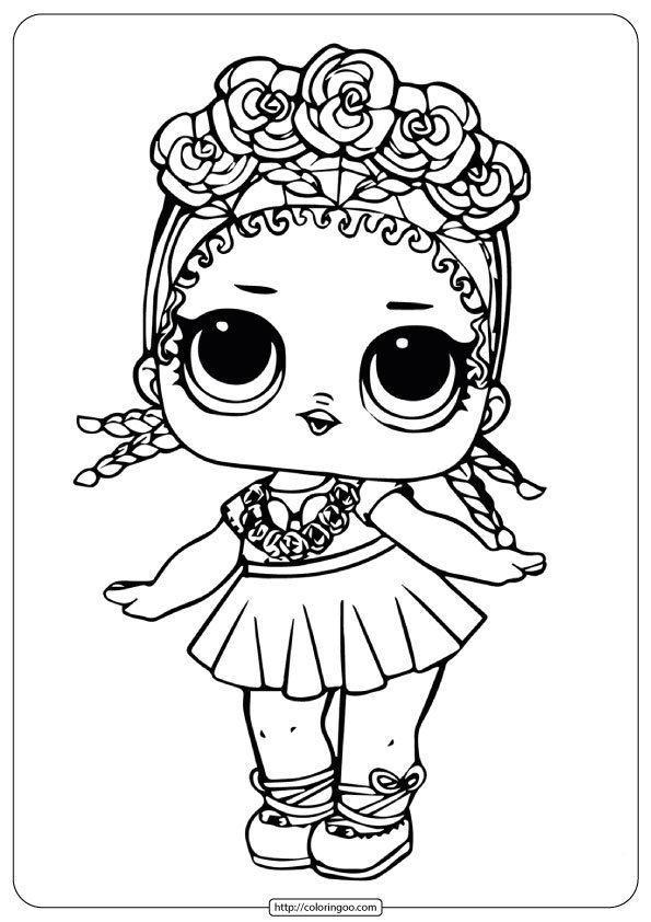 LOL Surprise Doll Coloring Sheets Coconut