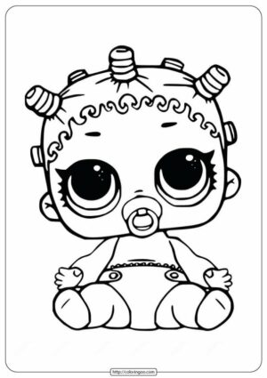 LOL Surprise Lil Cosmic Queen Doll Coloring Pages 1