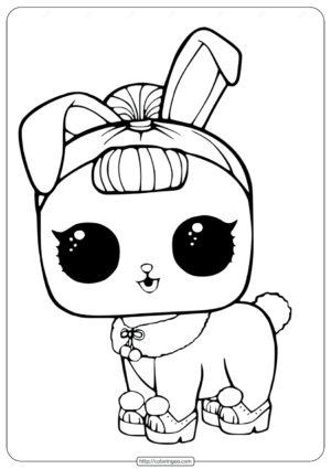 LOL Surprise Pets Coloring Page Crystal Bunny