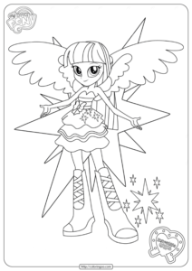 MLP Equestria Girls Twilight Sparkle Coloring Pages