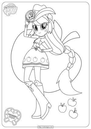 My Little Pony Equestria Girls Applejack Coloring