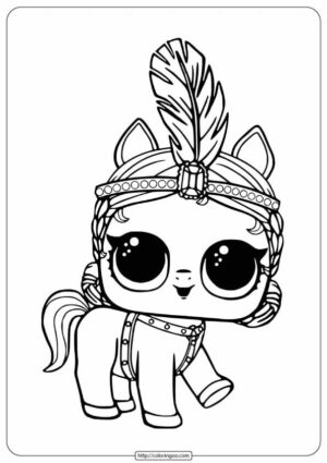 LOL Surprise Pony Showpony Coloring Pages