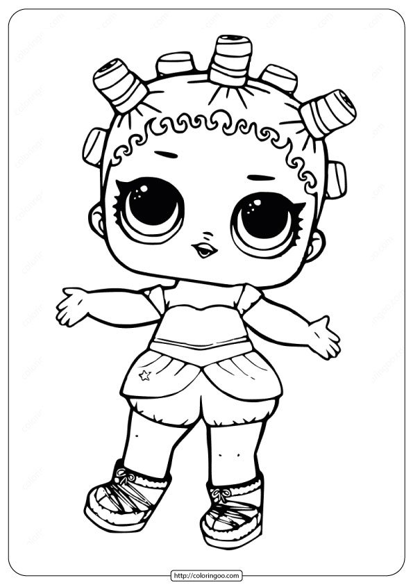 LOL Surprise Doll Coloring Pages Cosmic Queen