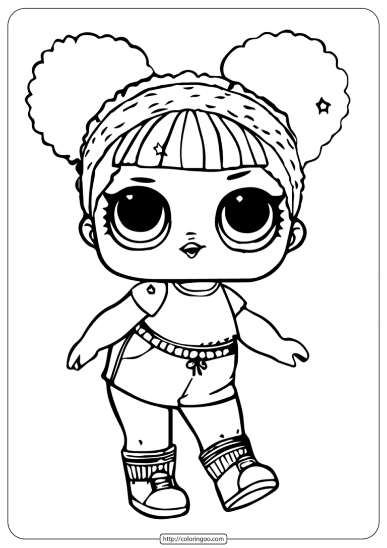 - Printable Lol Doll Coloring Pages Hoops MVP Glitter