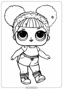 Printable Lol Doll Coloring Pages Hoops MVP Glitter