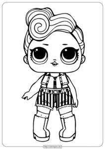 Printable Lol Doll Funky Coloring Pages