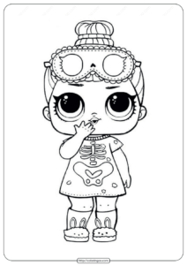 Sleepy Bones Lol Doll Coloring Page to Print