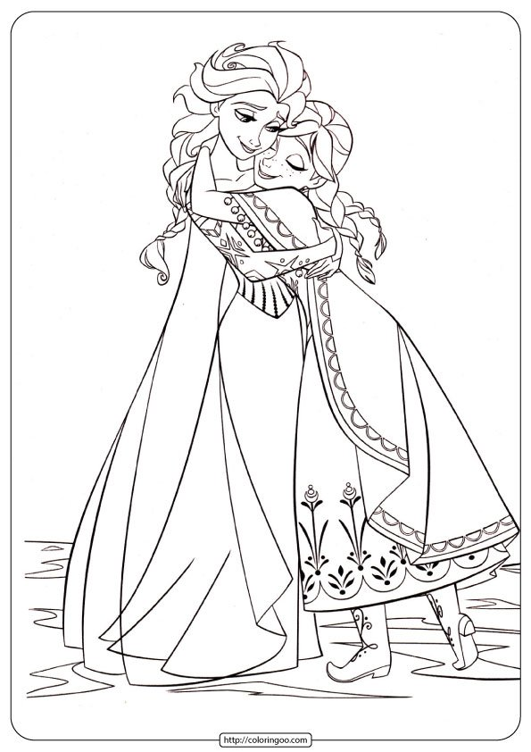 Disney Frozen Anna and Elsa PDF Coloring Pages